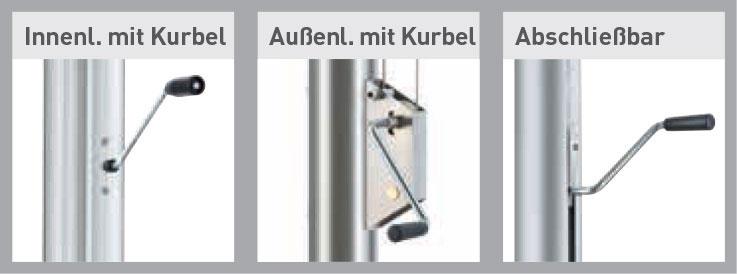 Fahnenmasten Hissvorrichtungen mit Kurbel