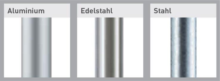 Fahnenmasten Mastmaterialien