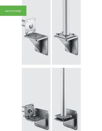 Fahnenmasten Fassaden-Mastsysteme