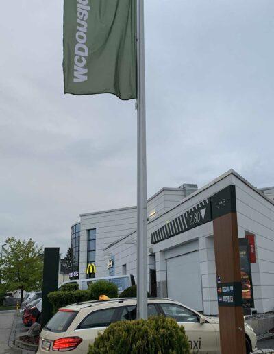 Fahnenmasten Online: McDonalds ROFA Fahnenmast