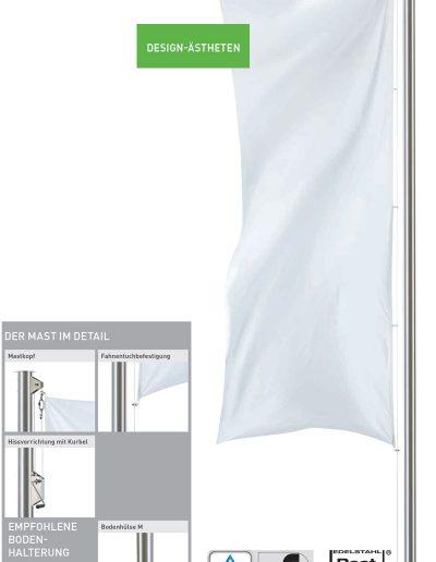 Premium Fahnenmasten Design-Ästheten Scirocco