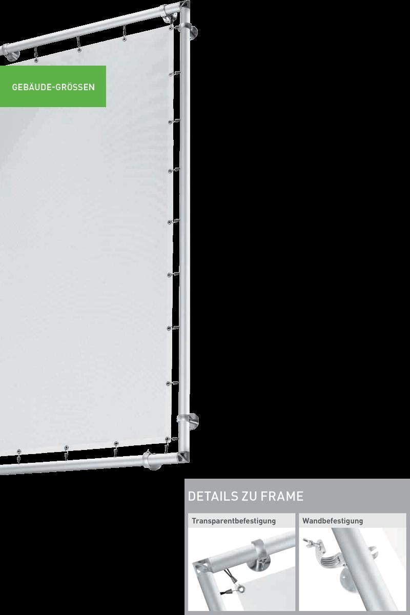 Transparentsysteme Gebäudegrößen Frame