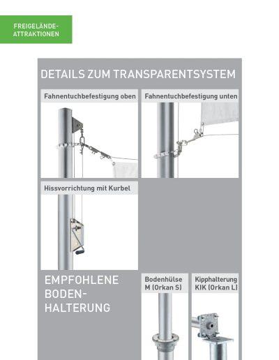 Transparentsystem Orkan Details